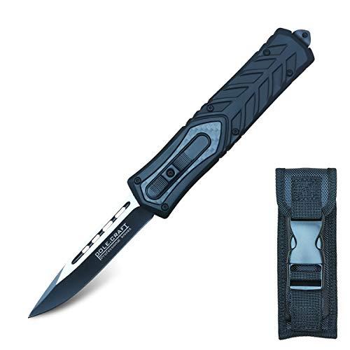 Folding Knife Tactical Pocket Knife Survival Quik Open - Survival Knife Folding - Safety Defense Folding Knife Assisted Opening - 440C Steel 58HRC - for Men Self-defense Adventure Hiking Fishing Hunting (THK-328)