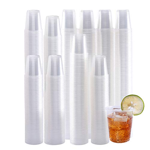 500 Pack 3 OZ Clear Plastic Cups,Disposable Mouthwash Cups,3 Ounce Cups-Party Cups Ideal for Whiskey,Drinking Tasting, Food Samples