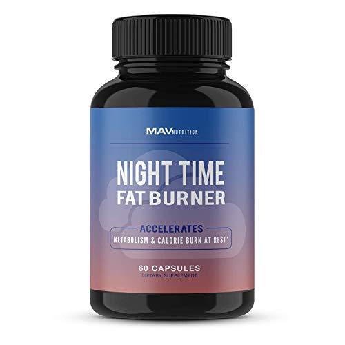 MAV Nutrition Weight Loss Pills Night Time Fat Burner for Women & Men   Sleep Aid Diet Pills, Appetite Suppressant, Metabolism Boost, Carb Blocker; 60 Count