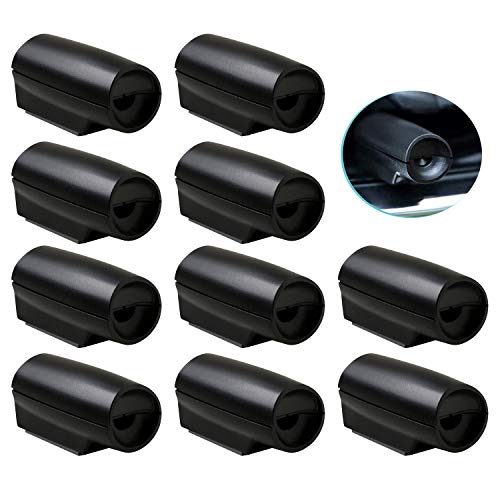 CITKOU 10Pcs Mini Deer Whistles for Cars with Extra Tapes Black