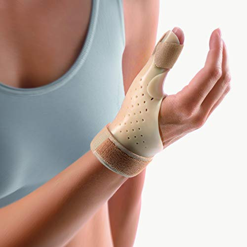 Bort 112900 SELLAFIX P, De Quervain's Tenosynovitis Brace for Thumb Tendon, Trigger Thumb, Heat Adjustable, Medical Grade Made in Germany (Beige, Large, Right 7.5' – 8.3' inches)
