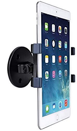 AboveTEK iPad Wall Mount, Swivel 360° Rotating Tablet Holder w/ Two Brackets to Fit 6-13' Tablets, Horizontal/Vertical Tilt iPad Arm for Flexible Viewing Angles in Kitchen House Showroom Retail Store