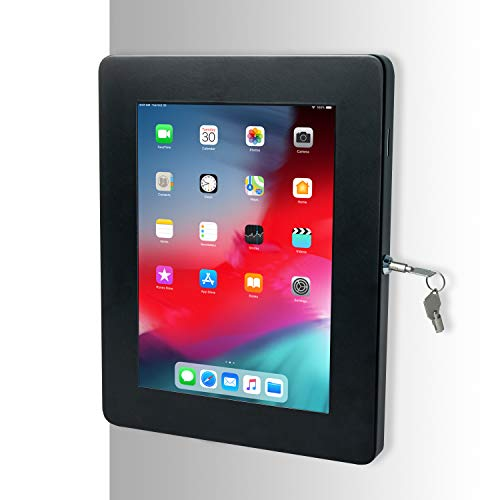 "CTA Digital: Premium Locking On-Wall Flush Mount for iPad 10.2-Inch (7th & 8th Gen.), iPad Air 3 (2019), iPad Gen. 6 (2018), Galaxy Tab S3 9.7"", and More, Black"