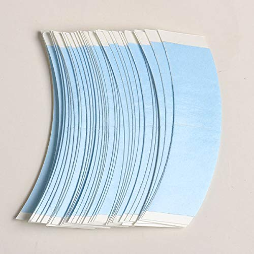 36 Pcs/Bag Double Sided Adhesive Tapes for Hair Extension Lace Front Support Toupee Wigs (Blue Color 1/2)
