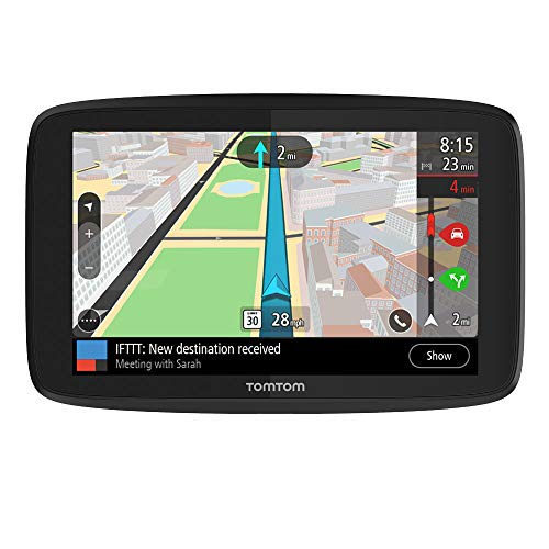 TomTom Go Supreme 6 Inch GPS Navigation Device with Traffic Congestion and Speed Cam Alerts Thanks to TomTom Traffic, World Maps, Updates Via Wi-Fi, Handsfree Calling, Click-And-Drive Mount