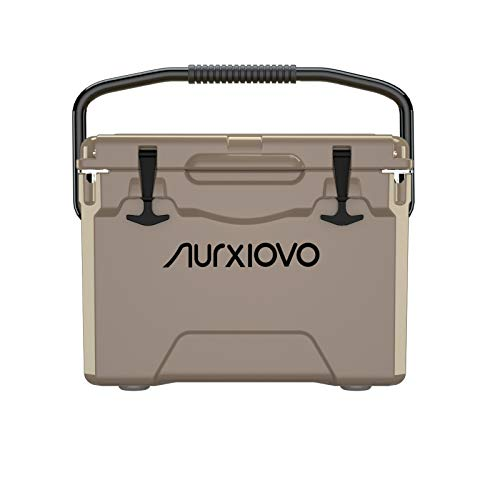 Nurxiovo 25QT Ice Chest and Roto-Molded Ice Coolers with Handle, Keeps Ice up to 7 Days Ideal for Camping, Hiking, Picnic, BBQs, Fishing, Traveling, Outdoor Activities, Grass Yellow