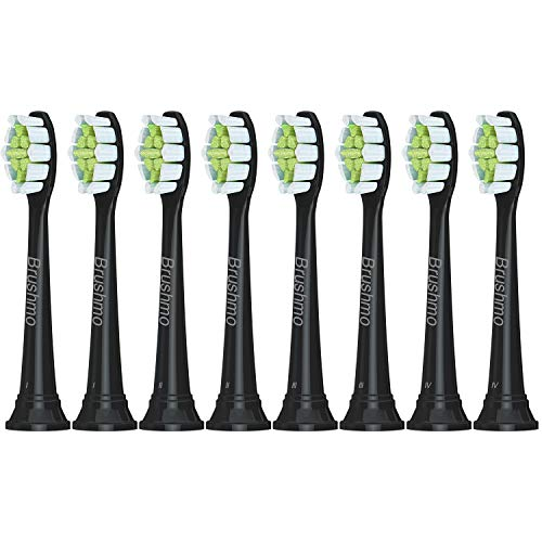 Premium Replacement Toothbrush Heads Compatible with Sonicare DiamondClean HX6063, Black 8 pk