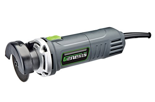 Genesis GCOT335 3' 3.5 Amp High Speed Corded Cut Off Tool with Quick-Release Adjustable Guard, Arbor Wrench, 3 in. Cut-off disc and Safety Switch