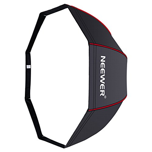 Neewer 32 inches/ 80 centimeters Octagonal Softbox Umbrella with Red Edges and Carrying Bag for Portrait or Product Photography, Compatible with Canon Nikon Sony Speedlite, Studio Flash (Black/Red)