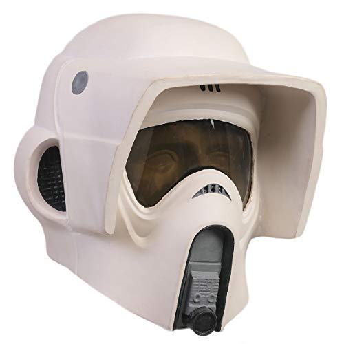 Scout Trooper Helmet Stormtrooper Latex Mask for SW Series Men Halloween Cosplay Costume Accessories