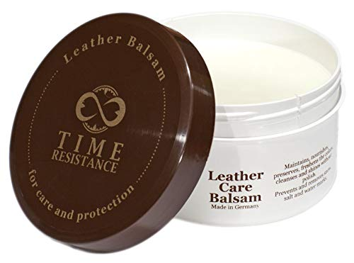 Leather Balsam for Shoes, Bags and Furniture Care and Protection 8.45 Oz (250ml) - Time Resistance
