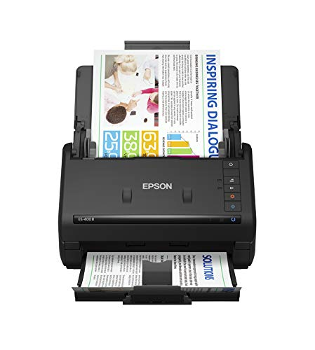 Epson Workforce ES-400 II Color Duplex Desktop Document Scanner for PC and Mac, with Auto Document Feeder (ADF) and Image Adjustment Tools