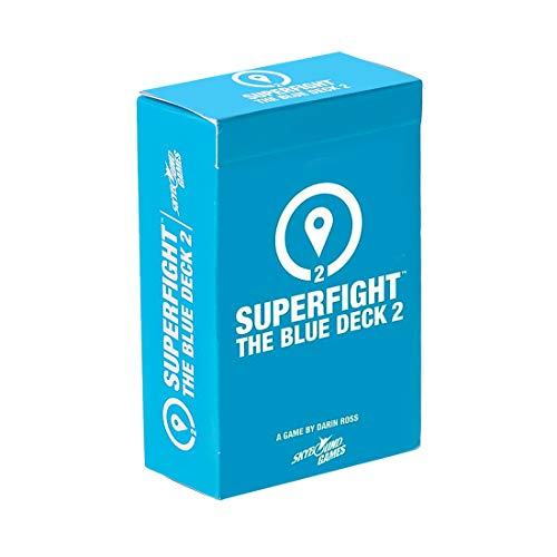 Superfight Blue Deck 2: 100 New Location Cards for The Game of Absurd Arguments | Party Game of Super Powers and Super Problems, for Kids Teens Adults, 3 or More Player Ages 8+