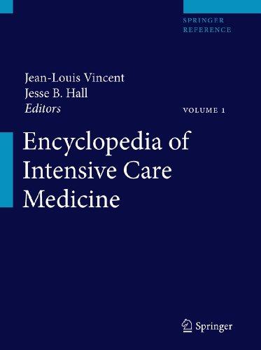 Encyclopedia of Intensive Care Medicine, volume 1 to 4