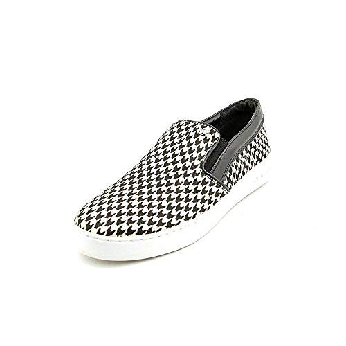 Michael Kors Keaton Slip on Printed Haircalf Sneakers Shoes (9.5) Black/White