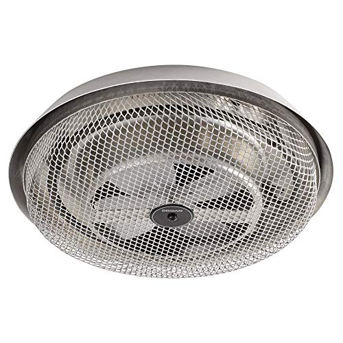 Broan-NuTone 157 Low-Profile Fan-Forced Ceiling Heater, Aluminum with Enclosed Sheath Element for Bathroom, Kitchen, and Home, Standard