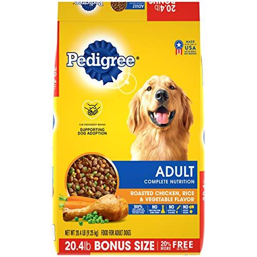 Pedigree Complete Nutrition Adult Dry Dog Food Roasted Chicken, Rice & Vegetable Flavor Dog Kibble, 20.4 Lb Bag