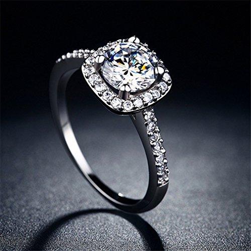 GUAngqi Women Brilliant Cubic Zirconia CZ Wedding Engagement Ring,8#