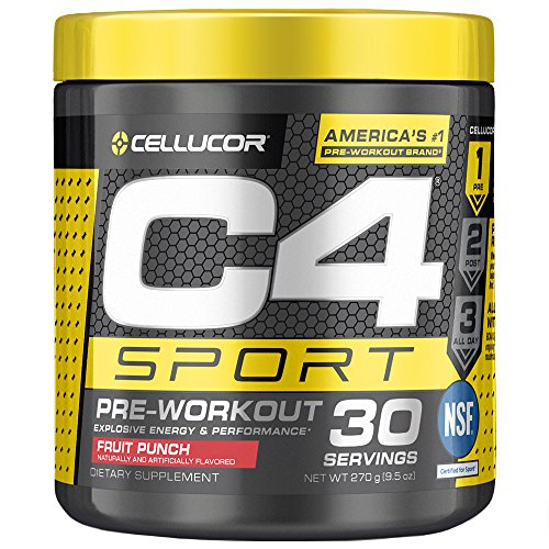 C4 Sport Pre Workout Powder Fruit Punch   NSF Certified for Sport + Preworkout Energy Supplement for Men & Women   135mg Caffeine + Creatine Monohydrate   30 Servings