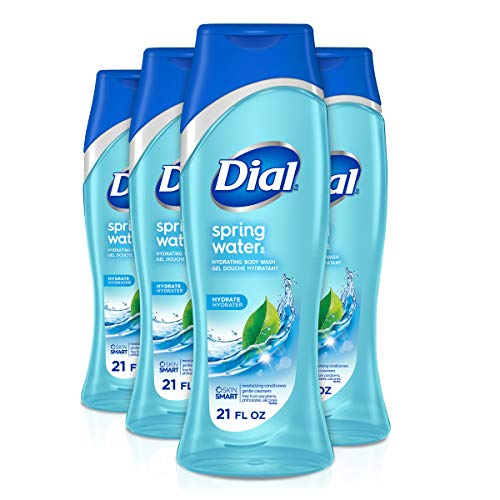 Dial Body Wash, Spring Water, 21 Ounce (Pack of 4)