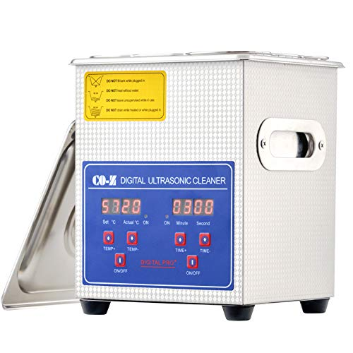 CO-Z 2L Ultrasonic Cleaner with Digital Timer and Heater, Professional 40kHz Retainer Denture and Jewelry Cleaner, Home Ultrasonic Cavitation Machine for Glasses Watches Electronic Dental Tools More