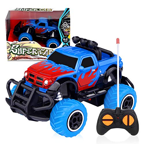Remote Control Car for Boys 3-5,RC Cars for Boys Age 4-7 RC Toys for 4 Year Old Boys 3 4 5 6 7 8 Year Old Girl Gifts 2021 Hottest Birthday Gifts for Kids 3 4 5 Pickup Truck Blue