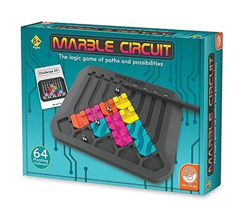 MindWare Marble Circuit – Logic Game for 1 Player – Great Gift for Kids who Like Puzzles & Brain teasers – 50 Card Challenges & 24pcs – Fun for Kids & Adults – Ages 8+