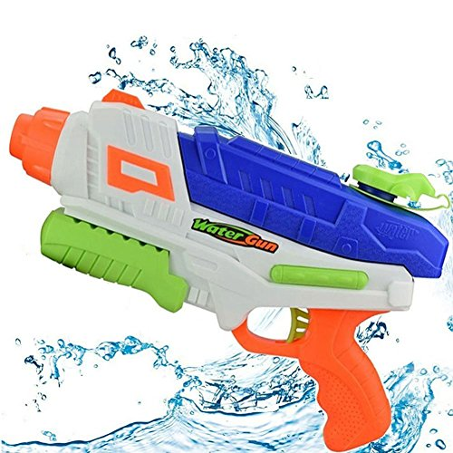 Water Squirt Gun for Kids/Adults,Super Long Range Soaker Blaster Cannon Guns Pool Toy for Summer Party Shooter,Water Pistol Toy for Cat/Dog Training (Navy Blue)