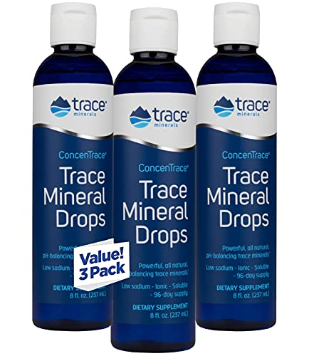 Trace Minerals Research - Concentrace Trace Mineral Drops, 8 fl oz liquid (Pack of 3)