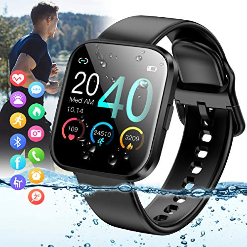 Amokeoo Smart Watch,Fitness Watch Activity Tracker with Heart Rate Blood Pressure Monitor IP67 Waterproof Bluetooth Smartwatch Touchscreen Sports Fitness Tracker Watch for Android iOS Phones Men Women