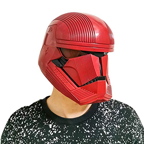 Gankchen Sith Trooper Cosplay Helmet Sith Trooper Mask Latex Costume Helmet Masqurade Red