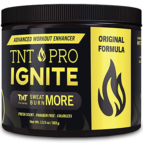 Fat Burning Cream for Belly – TNT Pro Ignite Sweat Cream for Men and Women – Thermogenic Weight Loss Workout Slimming Workout Enhancer (13.5 oz Jar)