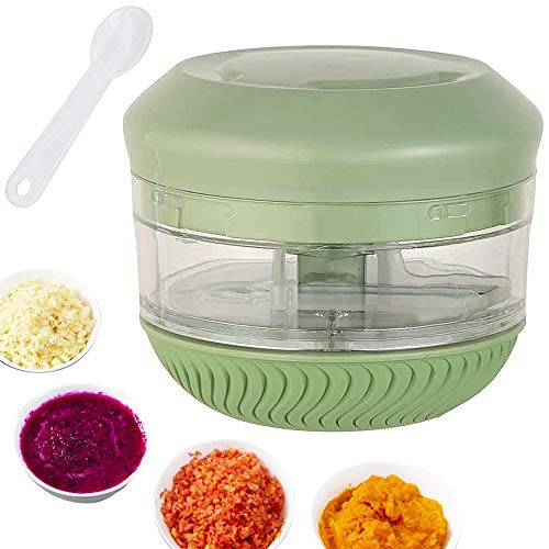 Mini Manual Food Chopper 230 ml, Durable Hand Held Vegetable Choppers and Dicers For Chopping Garlic, Ginger, Onion,Fruits,Puree And Boneless Meat Food Processor