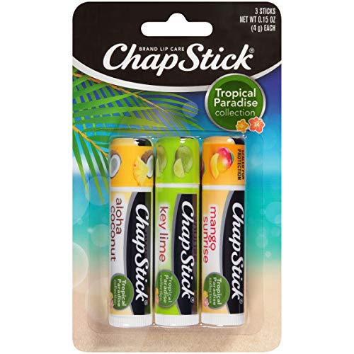 Chapstick Tropical Paradise Collection Lip Care, 0.15 Ounce, 3 Count