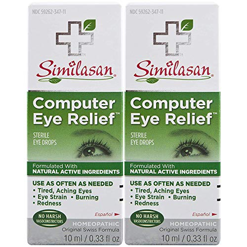 Similasan Computer Eye Relief Eye Drops, 2 Count