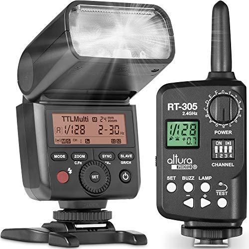 Altura Photo AP-305S Camera Flash and Wireless Manual Trigger for Sony A7III,A7II, A7, A7RII, A7RIII, A7RIV, A7SII, A6600, A6500, A6400, A6300, A6000, A9-2.4GHz TTL Speedlite for Mirrorless Cameras