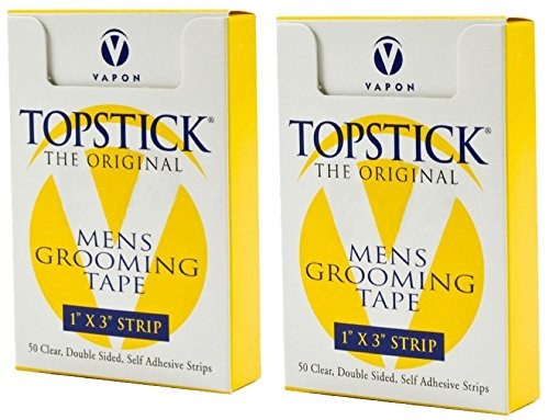 Vapon Topstick 1' X 3' - 50 Strips in each box (2 boxes) Hypo-Allergenic All Purpose Clear Double Tape