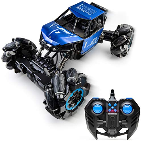 Power Your Fun Jive RC Car - Remote Control Monster Truck, 4x4 RC Truck, 1:16 Rechargeable RC Crawler Stunt Car for Kids and Adults (Blue)