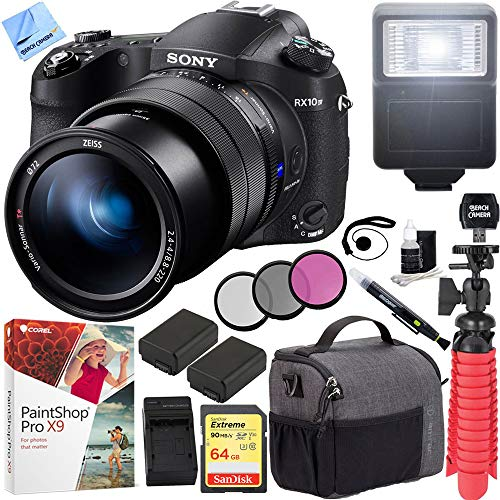 Sony RX10 IV Cyber-Shot High Zoom 20.1MP Camera with 24-600mm F.2.4-F4 Lens and Tamrac Tradewind Shoulder Bag Plus 64GB Dual Battery Bundle