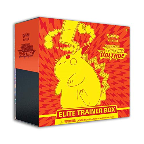Pokemon Cards: Sword & Shield 4 Vivid Voltage Elite Pikachu - Trainer Box, Multicolor