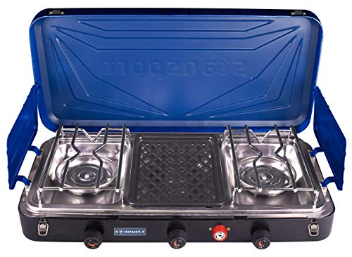 Stansport 21250 Propane Stove Top, Silver
