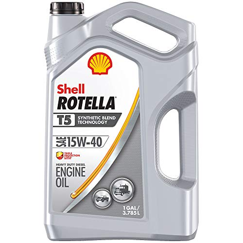 Shell Rotella T5 Synthetic Blend 15W-40 Diesel Engine Oil (1-Gallon, Case of 3)