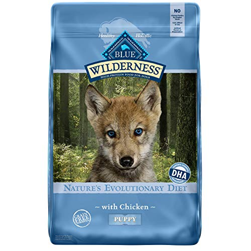 Blue Buffalo Wilderness High Protein Grain Free Natural Puppy Dry Dog Food, Chicken 11-lb