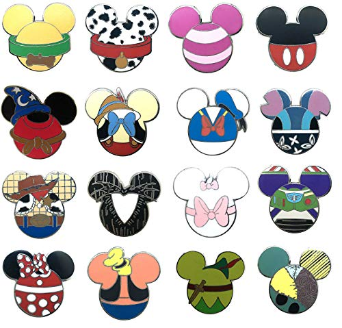Disney Pins - Mickey Mouse Icon Mystery Pouch Pins 86540, Multicolored, Small