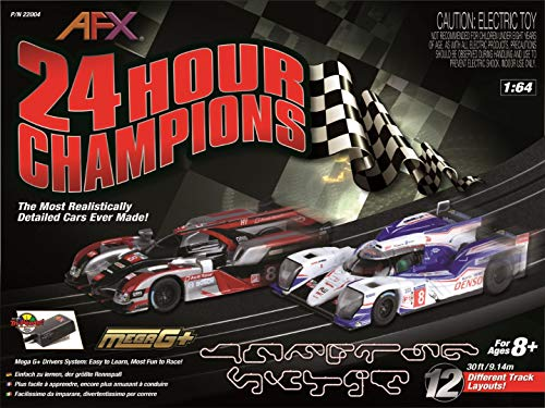 AFX 22004 24 Hour Champions HO Scale Electric Slot Car Set