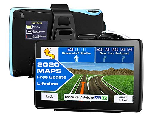 GPS Navigation for car All Type of Vehicles,e.g Cars,Trucks,Motorhome etc,7 inch Large-Size Screen with Sun Shielding Frame 8GB&256MB,Voice Turn- to-Turn Traffic Indication,Lifetime Free Map Updates