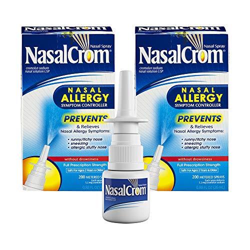 NasalCrom Nasal Spray Allergy Symptom Controller   200 Sprays   .88 FL OZ   2 Pack