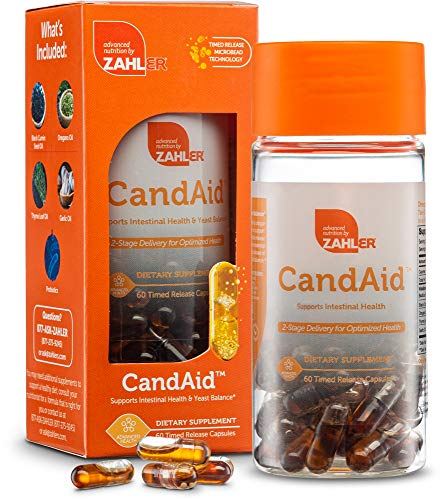 Zahler CandAid, Digestive Health Supplement, 2-Stage delivery for Optimized Health, 60 Timed Release Capsules