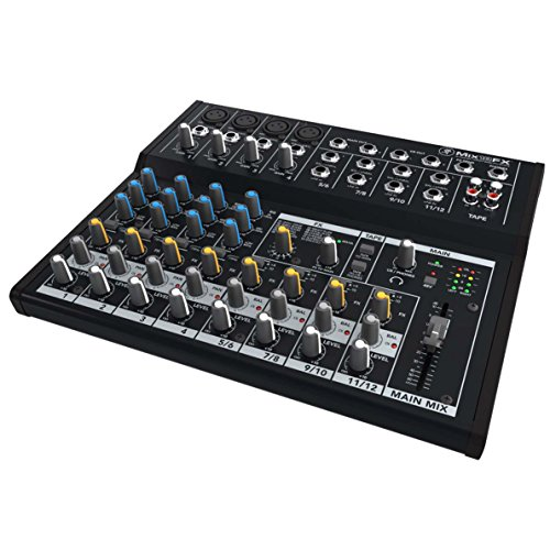 Mackie Mix Series, 12-Channel Compact Effects Mixer with Studio-Level Audio Quality and FX (Mix12FX)