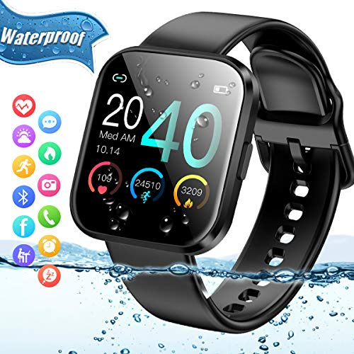 Smart Watch,Fitness Watch Activity Tracker with Heart Rate Blood Pressure Monitor IP67 Waterproof Bluetooth Smartwatch Touch Screen Sports Fitness Tracker Watch for Android iOS Phones Men Women